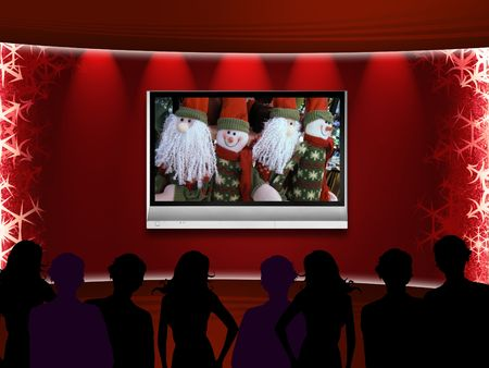 telly: Christmas theater with telly on the wall
