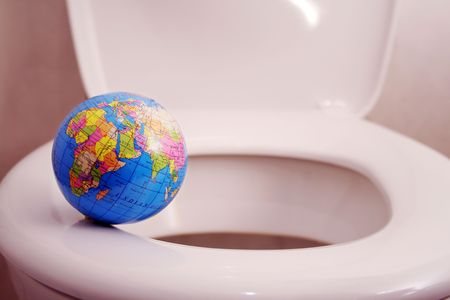 gullet: World at the abyss Stock Photo