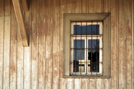 old broken window of a historical jail Stock Photo - 4940490