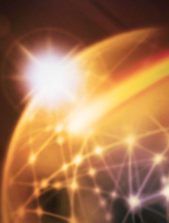 world with international movements an sun Stock Photo - 4939677