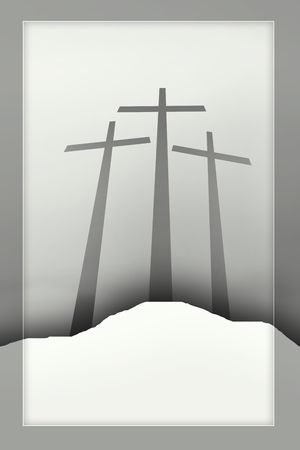 three crosses Stock Photo - 4939955