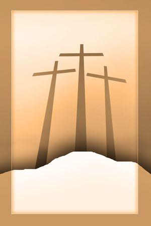 three crosses Stock Photo - 4939927