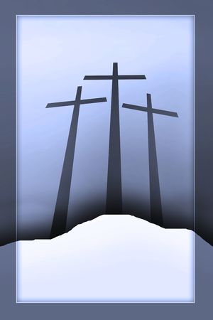 three crosses Stock Photo - 4939957