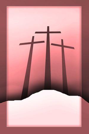 three crosses Stock Photo - 4939993