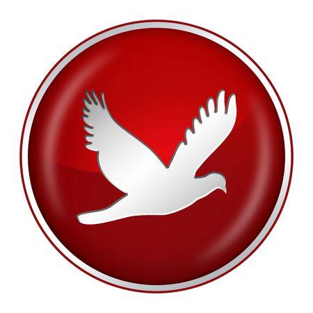 3d dove: peace Stock Photo