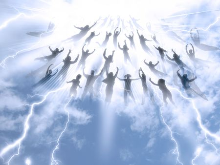 The Rapture of People out of the world 版權商用圖片