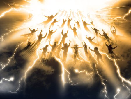 rapture: The Rapture of People out of the world Stock Photo