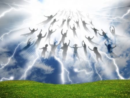 The Rapture of People out of the world Stock Photo