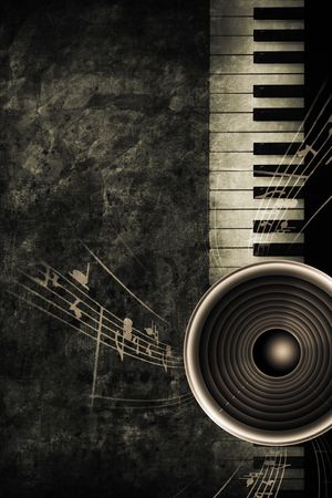broadway: old historically keyboard in retro design look