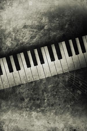 old historically keyboard in retro design look photo