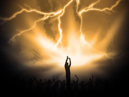 praise god: many people are praising the holy lord