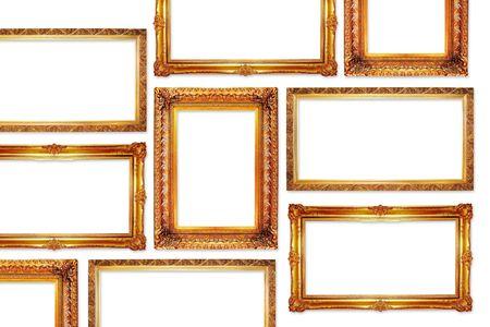 Golden Frames im antiken Stil für Ihre Bilder Standard-Bild