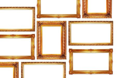 golden frames in antique style for your pictures