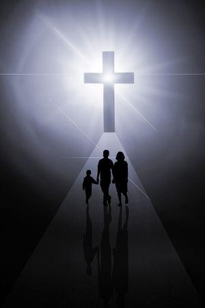 familia en la iglesia: La Cruz del Se�or Jesucristo