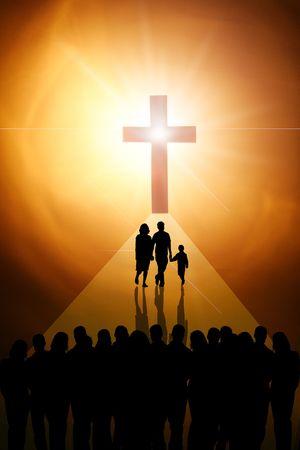 La Croix du Seigneur Jésus christ Banque d'images - 5504212