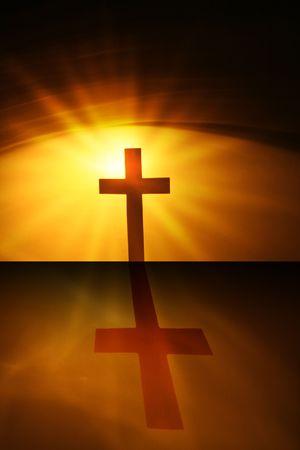 La croix du seigneur jésus christ Banque d'images - 5504204