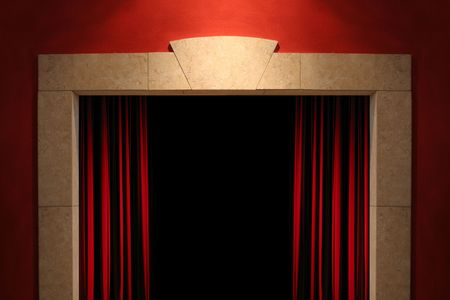 Stage or window with space for your sign photo