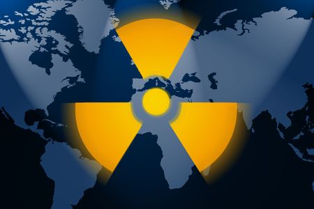 illustration of the real dangerous nuclear world illustration