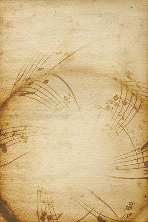 Fond musical avec notes softed et lignes Banque d'images - 5581128