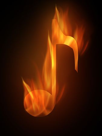 The hot burning contour of a note Imagens