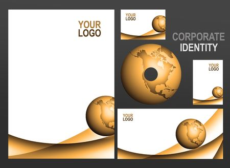 printing logo: set of all important business printing matters