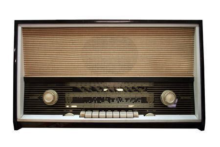 old aged wooden radio in retro look Stock Photo - 5654666