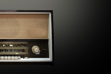 old aged wooden radio in retro look Stock Photo - 5654665