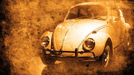 mangy: old car of the seventies in retro style