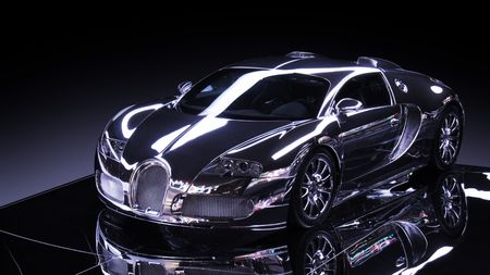 luxury of a sports car with light effect
