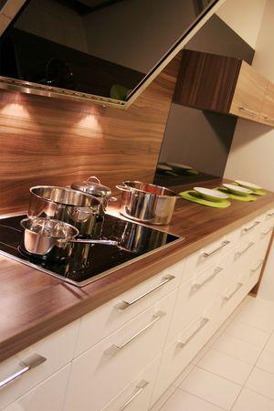 détail dans une cuisine moderne et nouvelle