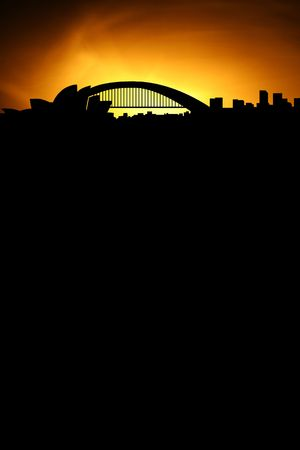 skyline of sydney with black space for your text photo