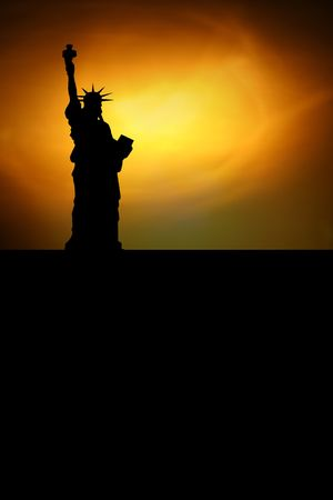statue of liberty with black space for your text photo