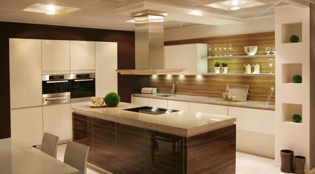cuisine moderne: d�tail dans une cuisine moderne et nouvelle