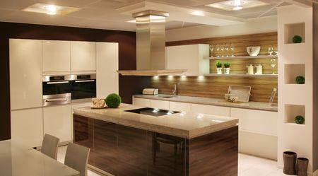 Detail in einer modernen und neue Küche Standard-Bild