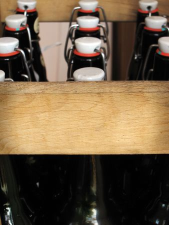 old beer in a wooden box Stock Photo - 6088602