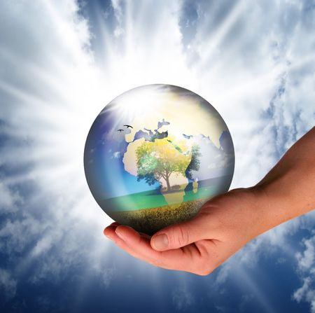 saved: the world should be saved by the creator Stock Photo