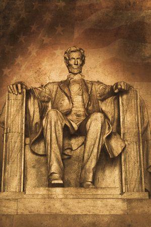 Ancienne photo de la memorial lincoln à washington D.C.  Banque d'images - 6175191