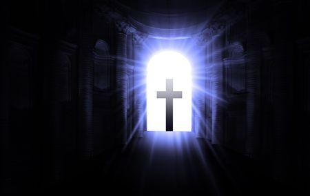 Recherche via le tunnel après la mort et de décès  Banque d'images - 6204861