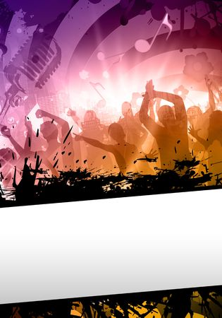 Colorful composition of a sound party at the disco photo