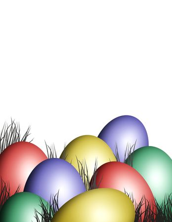 celebrate the party with any colored easter eggs photo