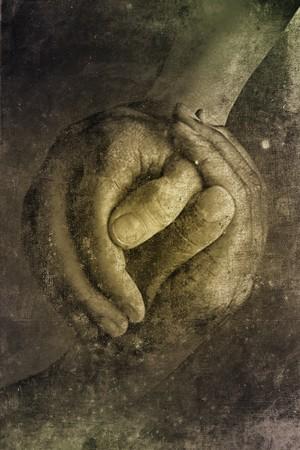 Deux mains agitation au look rétro conception  Banque d'images - 7365367