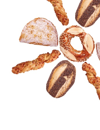 Some breads of a bakery as a star photo