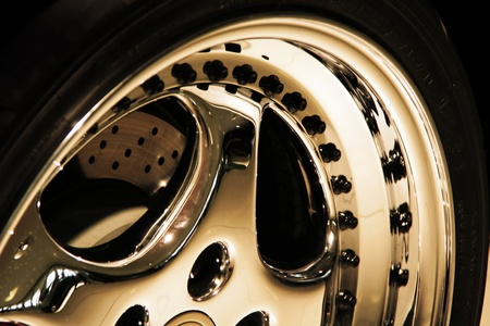 Aluminium Sporto wheel of a racing car Stock Photo - 9225299