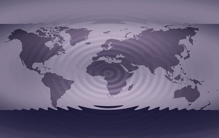 The hole Worldmap with a Earthquake vibration