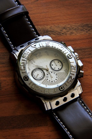 the silver chronograph time luxury equipment Stock Photo - 10555154
