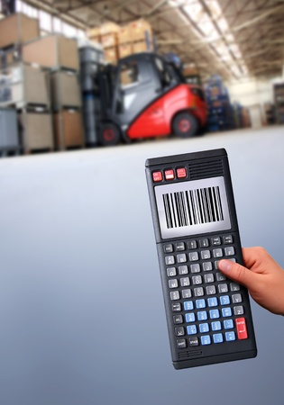 working with a modern handheld computer