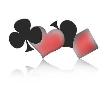 jeu de carte: Les quatre signes d'un jeu de Poker