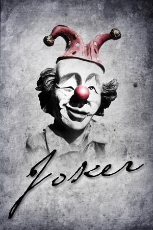 Vieux clown drôle dans le regard de style rétro Banque d'images - 11216172