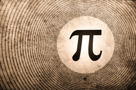 symbol: pi symbol is the largest number in the world Stock Photo