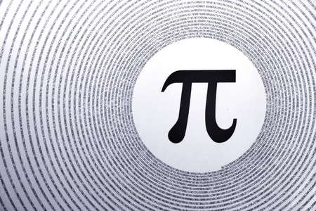pi symbol is the largest number in the world Stock Photo